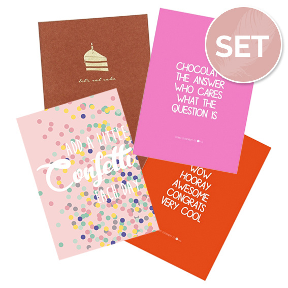 Set kaarten 'Party' (4 st.)