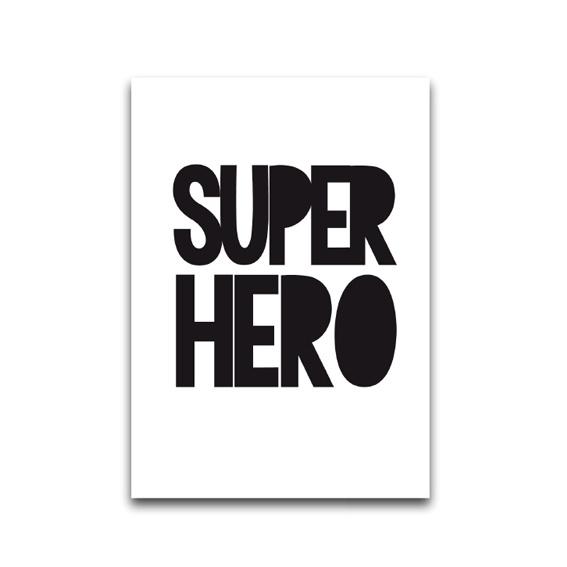 Kaart 'Super hero'