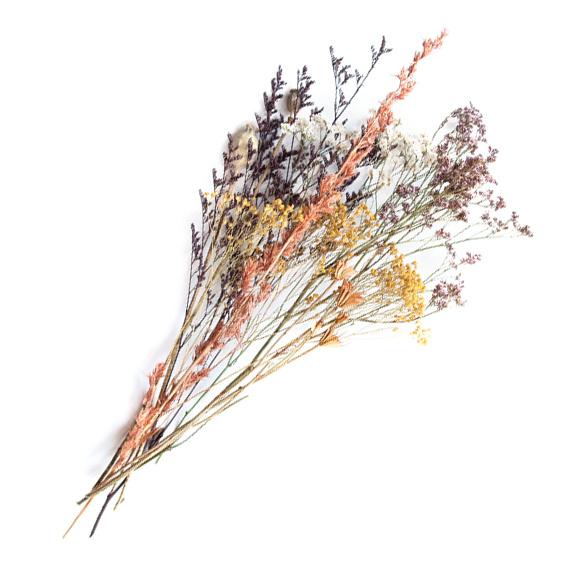Droogbloemen boeket multicolor