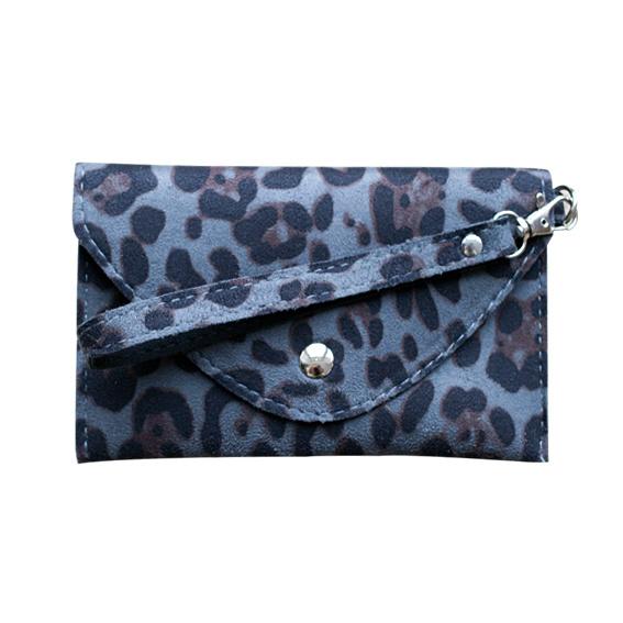 Tasje luipaard grijs