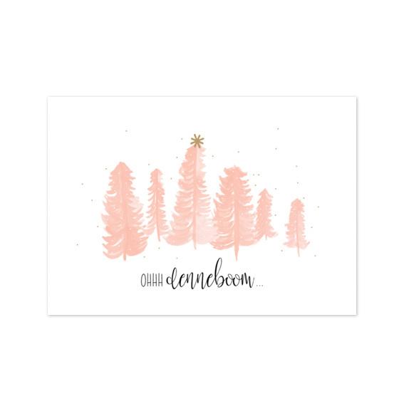 Kerstkaart 'Oh denneboom'