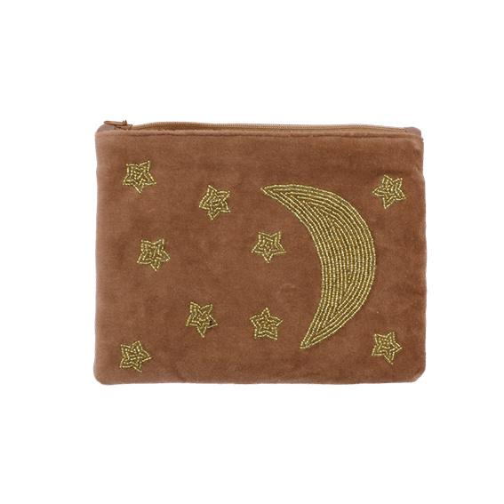 Velvet pouch 'Moon & stars'