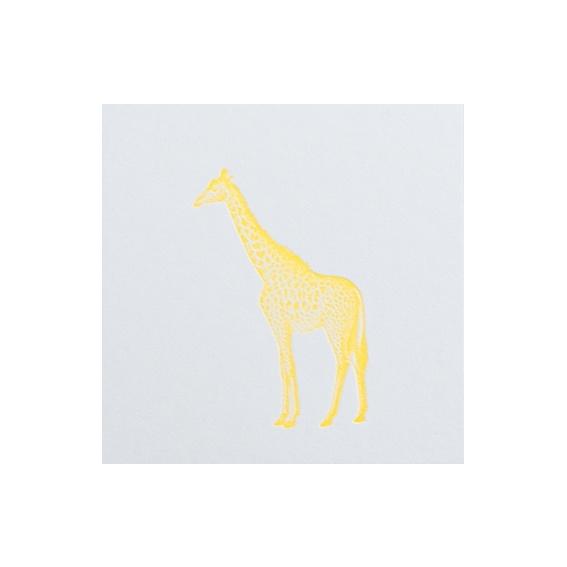 Letterpers kaart 'Giraf'
