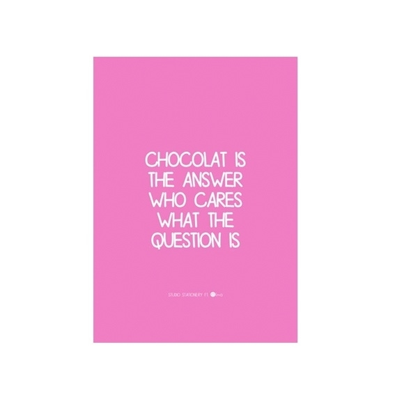 Kaart 'Chocolat'