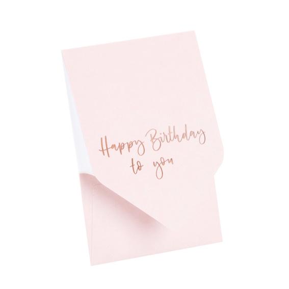 Pocketfold kaart 'Happy Birthday to you'