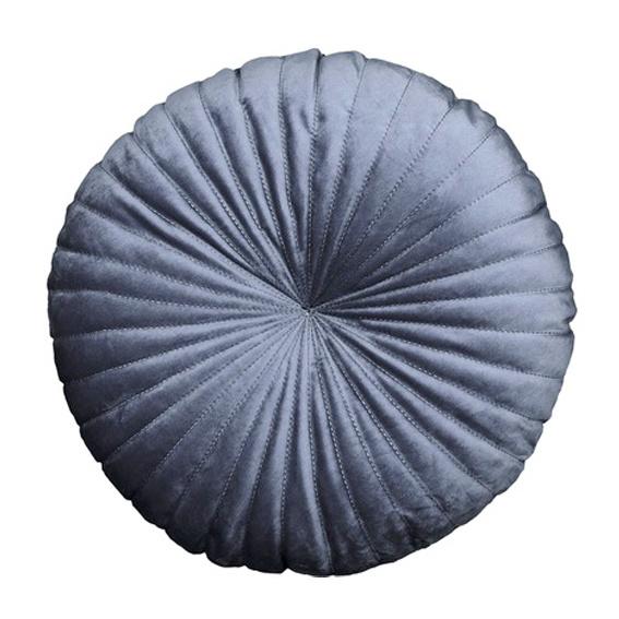 Kussen velvet rond donkerblauw