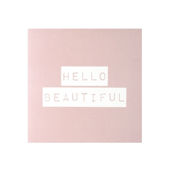 Wenskaart 'Hello Beautiful'