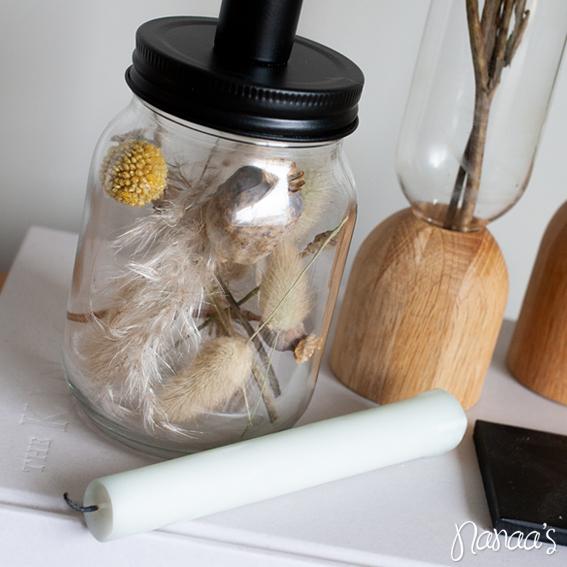 Droogbloemen kandelaar, droogbloempotje, droogbloemenpotje | Nanaa's Online Conceptstore