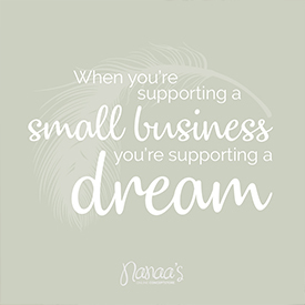 Instagram nanaas_onlineconceptstore, support small business, small business quote | Nanaa's
