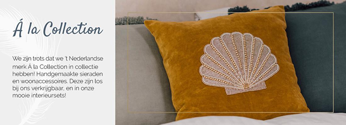 Á la Collection, A la Collection, handgemaakte kussens, geborduurde kussens | Nanaa's Online Conceptstore