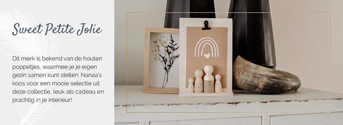 Houten poppetjes Sweet Petite Jolie, houten poppetjes, kraamcadeau | Nanaa's Online Conceptstore