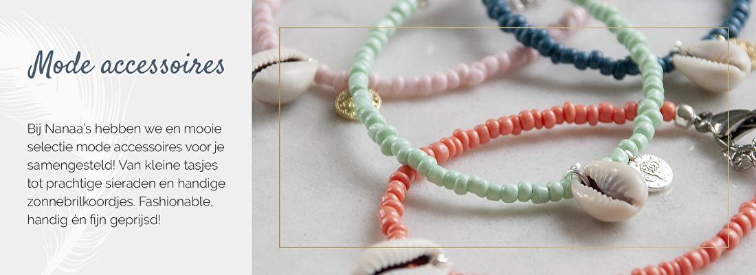 Dames accessoires online, zonnebrilkoordjes, armbandjes, kralenarmbanden | Nanaa's