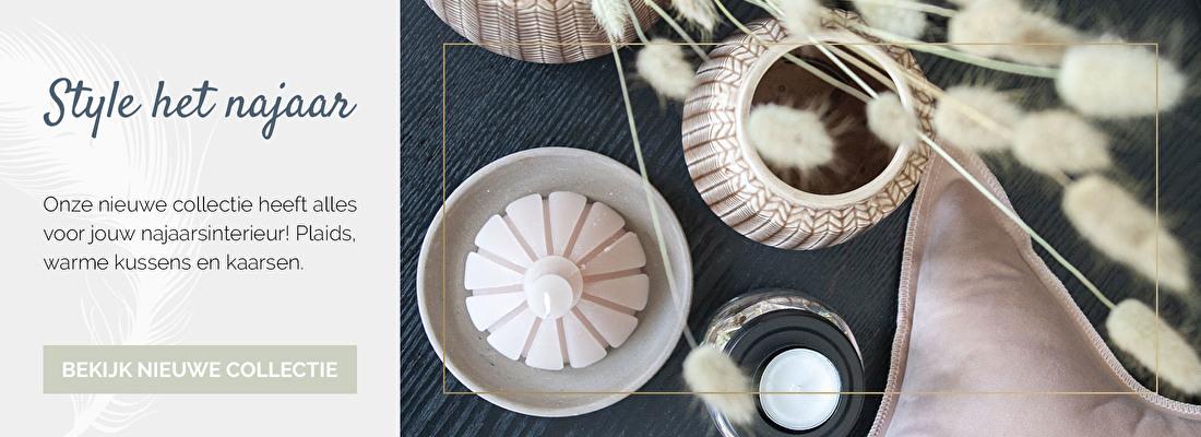 Nieuwe collectie voor jouw najaarsinterieur, plaids, warme kussens en kaarsen | Nanaa's
