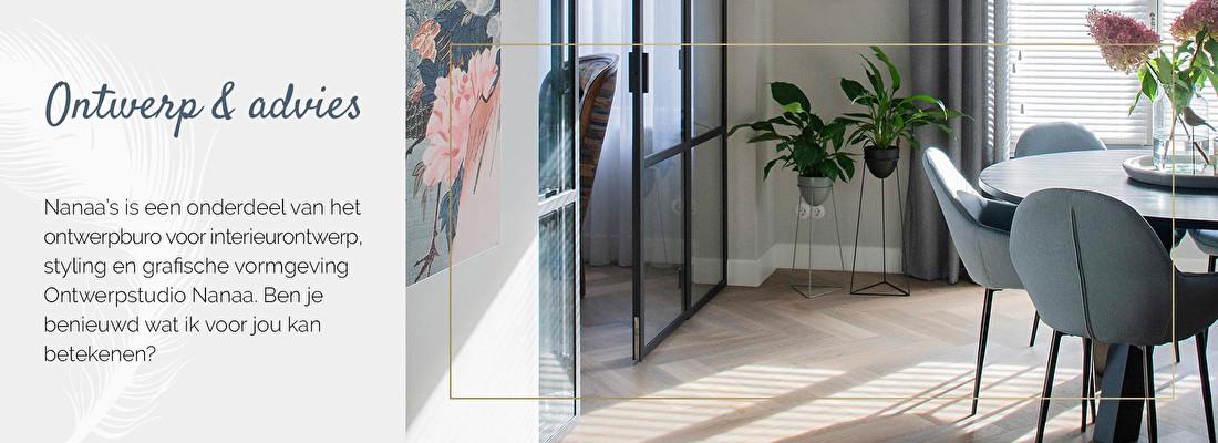 Interieurontwerp, interieuradvies, Ontwerpstudio Nanaa, grafische vormgeving | Nanaa's