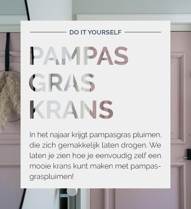 Pampasgraskrans, pampasgras DIY, pampasgraspluimen | Nanaa's
