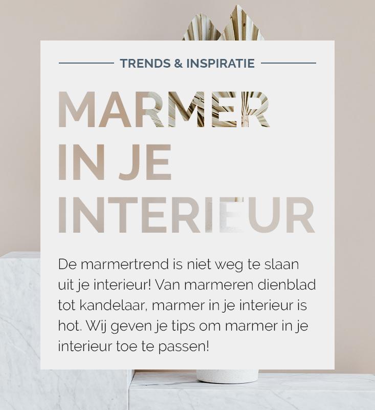 Marmer in je interieur, marmer inspiratie | Nanaa's