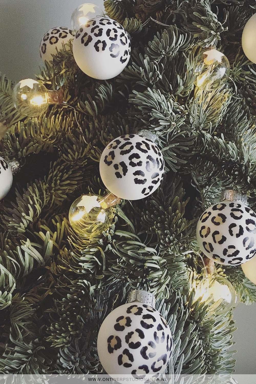 Panterprint kerstballen, luipaard kerstballen | Nanaa's Online Conceptstore