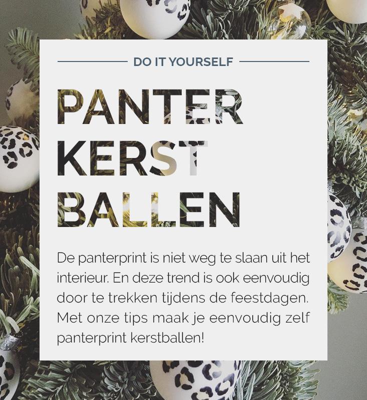 Panter kerstballen, kerstballen DIY, luipaard kerstballen | Nanaa's