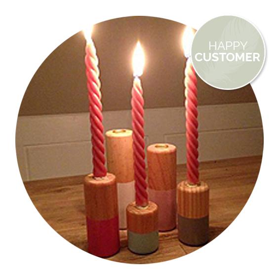 Nanaa's happy customers, gedraaide kaarsen, spiraalkaarsen | Nanaa's