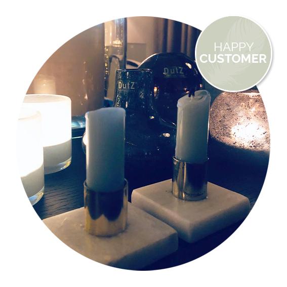 Nanaa's happy customers, kandelaar marmer, marmeren kandelaar | Nanaa's