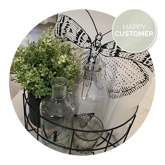 Nanaa's happy customers, kussen met vlinder, vlinderkussen | Nanaa's
