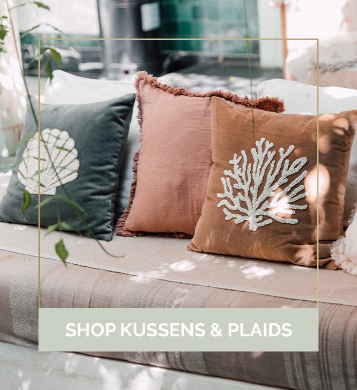 Kussens online kopen, kussen webshop, kussens en plaids, woontextiel kopen | Nanaa's