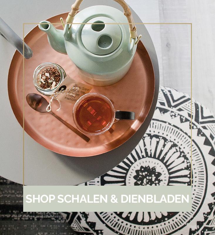 Schalen en dienbladen, schalen kopen, mooie dienbladen kopen | Nanaa's