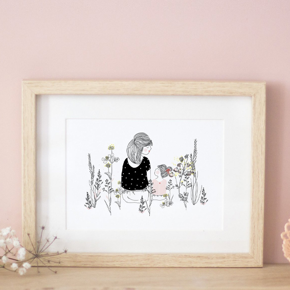 Moederdagkaart, Moederdagkaartje, kaartje voor Moederdag, girlsmom | Nanaa's Online Conceptstore