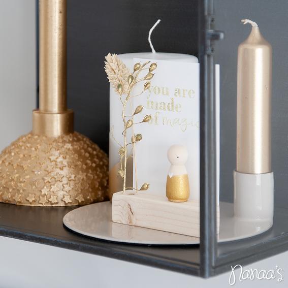 Houten poppetjes Sweet Petite Jolie, houten poppetje cadeau | Nanaa's Online Conceptstore
