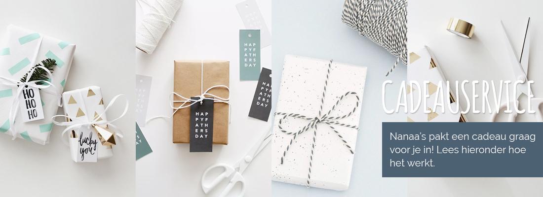 Cadeauservice: wij pakken een cadeau graag gratis voor je in!
