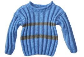 Jongens trui met grijze strepen