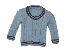 Blauwe pullover trui voor kleine jongens