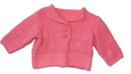 Mooi roze vestje voor de allerkleinsten