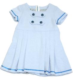 Matrozen baby jurkje in lichtblauw