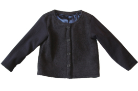 Kort donkerblauw meisjes jasje