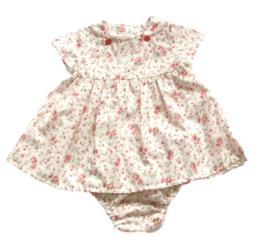 Pofbroekje en jurkje in bloemdessin