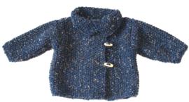 Jasje in tweed met houten knoopsluiting
