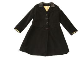 Meisjes winterjas in zwart