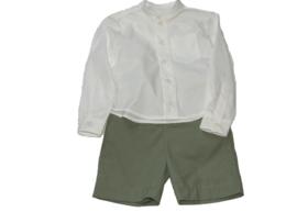 Korte jongensbroek met blouse