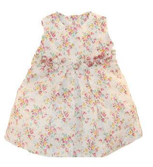 Gebloemd jurkje met sierbloemen