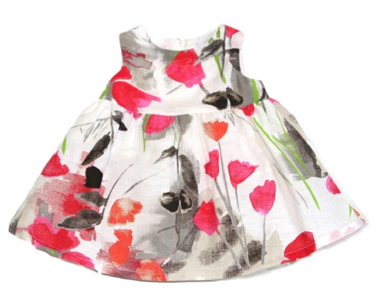Baby jurkje met vestje en petticoat