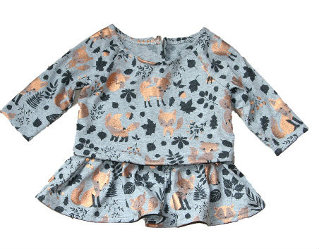 Feestelijk baby vos jurkje