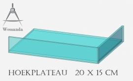 Hoekplateau 20x15x3,5cm Versie A