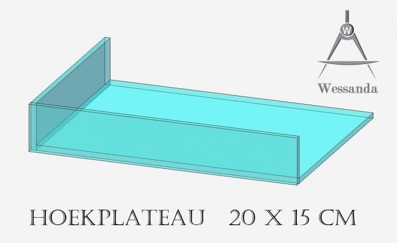 Hoekplateau 20x15x3,5cm Versie B
