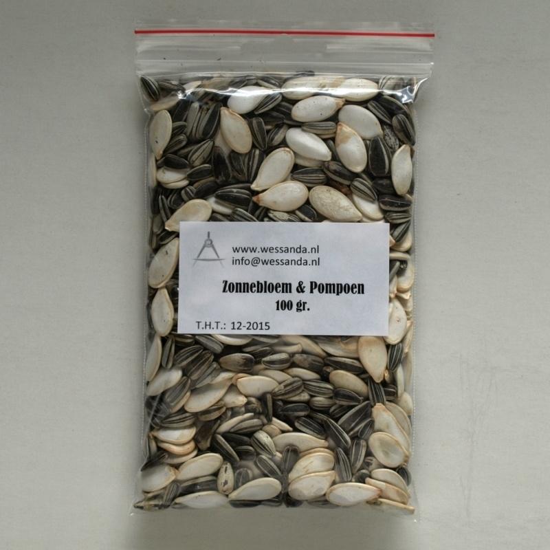 Zonnebloem + Pompoen pitten mix 100 gram