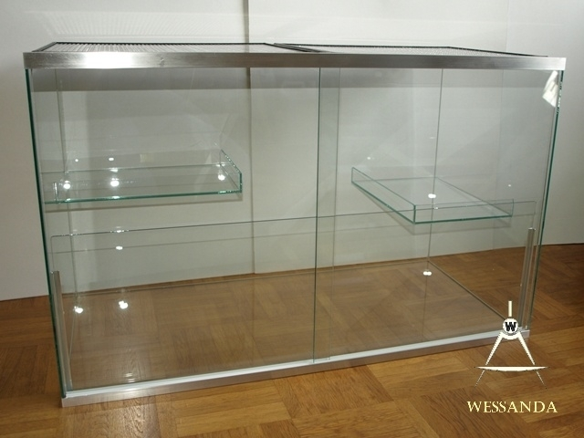 Terrarium met schuifruiten 80x40x50cm