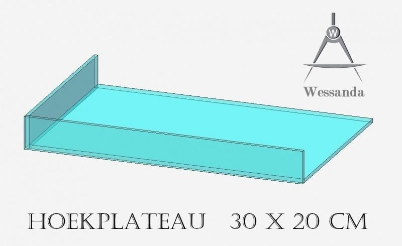 Hoekplateau 20x30x3,5cm Versie B