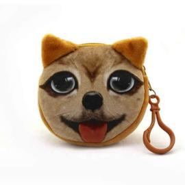 Bruinig hondenportemonneetje (8 x 8 cm)