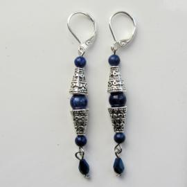 Tibetaans zilver met lapis lazuli