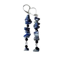Lapis lazuli met kristallen
